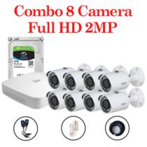 Combo 8 Camera HAC-HFW1200SP-S4 + 1 Đầu ghi hình 8 kênh Dahua